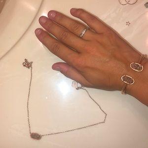 Gold Kendra Scott Pendant & Gold Matching Bracelet